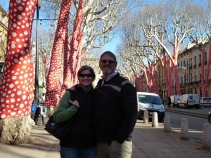 John & Darlene on the Cours Mirabeau
