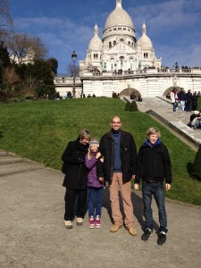 Sacre Coeur with Greg, Leo & Juliette