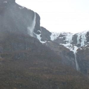 rainy fjord view