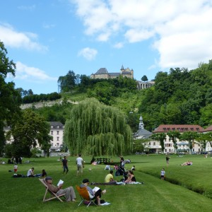 Hotel & gardens at Uriage les Bains