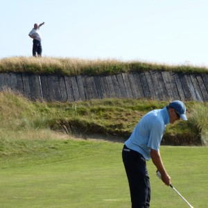 Tim guiding the way over the bunker