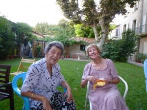Simone & Karen in the garden