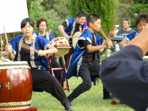 Japanese traditional drum and dance